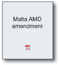 Malta AMD Ammendment