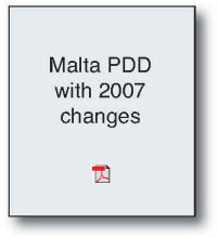 Malta PDD with 2007 Changes